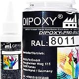 150 g de dipoxy-PMI-RAL 8011 marron ocre muy concentrado, pasta de color para resina epoxi, resina de poliéster, sistemas de poliuretano, hormigón, barnices, pintura líquida de resina…