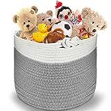 Cesto in corda di cotone, cesto portaoggetti in cotone con filo di cotone, per riporre la casa e i giocattoli, per la lavanderia del bambino, cestino portaoggetti organizer per la casa moderna