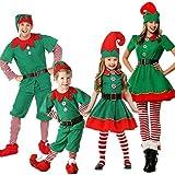 luoluoluo Natale Costume,Costumi di Natale per Adulti e Bambini Vestito per Elfi di Natale per Bambini (Ragazzi, 160)