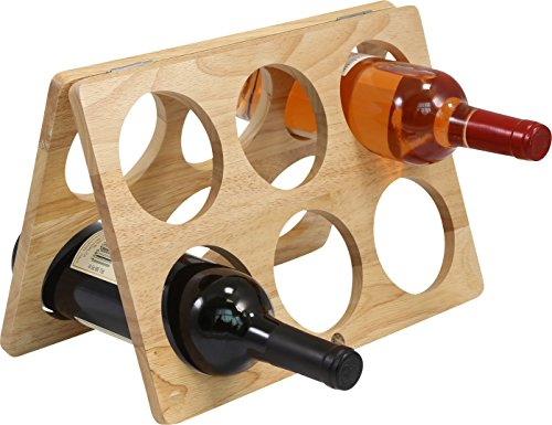 Primeware Counter-top Wine Rack - 6 Bottle Decorative Tabletop Wine Organizer