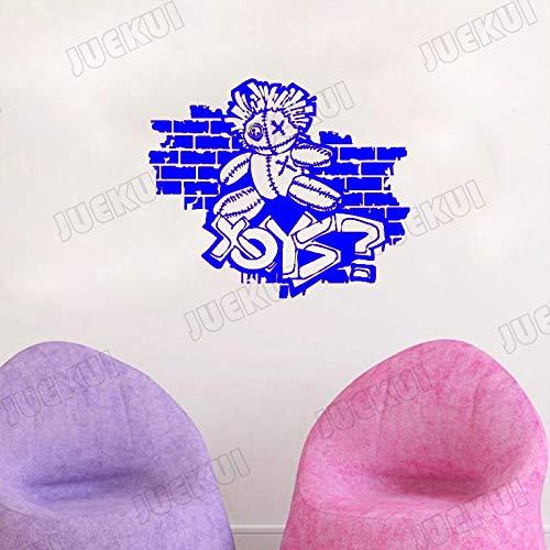 zqyjhkou Street Art Graffiti Zeichnung Spielzeug Spiel Wandaufkleber Für Wohnzimmer Tapete Aufkleber Vinyl Aufkleber Spielzimmer Hintergrund 4 49X42 cm