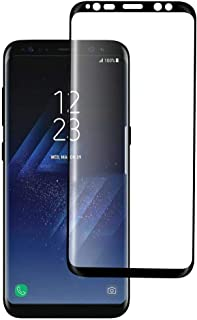 Samsung Galaxy S8 Screen Protector Tempered Glass 5D Curved Full Coverage by Meidom - Black