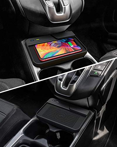 Center Console Holder Storage Box QI Enable Cell Phone Wireless Charging Pad Mat for Honda CR-V 2020 2019 2018 2017 Interior Accessory CarQiWireless Wireless Charger for CRV Car Fast Charging Charger