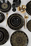 Topkapı - Set di stoviglie in porcellana per 6 persone, piatti fondi, piatti piani, piatti da dessert e ciotole, servizio cena vintage, servizio combinato