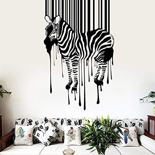 Pegatinas de pared de cebra Decoraciones para el hogar Decoración de sala de estar Pared decorativa Vinilo creativo Animales