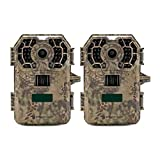 Stealth Cam 2020 G42NG 24MP Trail Camera 2-Pack Bundle. No-Glow Flash, 100-Ft. IR Range, Kryptek Camo (2 Items)