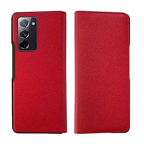 Compatible para Samsung Galaxy Z Fold 2 5G Smartphone Funda(Rojo)+3D Vidrio...