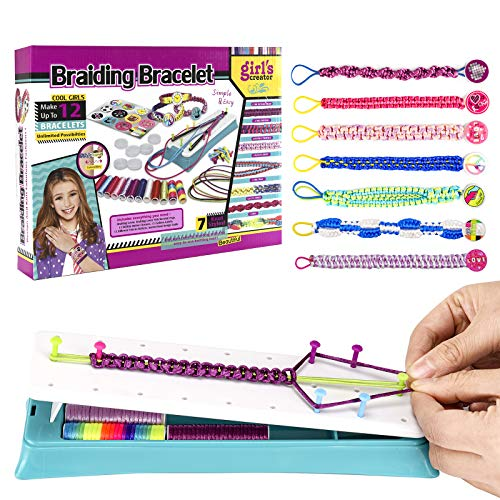 BNPUHIU Bracelet Making Kit for Girls, DIY Friendship Bracelets Set for Girls, Arts and Crafts Kit to Create Unique Bracelets, Braided Rope Kids Jewelry Maker Kit for 6yr+ Girls