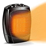 Space Heaters for Indoor Use - Fast-Heating 1500W Electric Heater Small Space Heater w/ Adjustable Thermostat, Tip Over & Overheat Protection, Quiet Portable Ceramic Heater for Office, Home & Bedroom