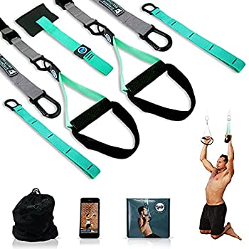 Unity Trainer Total Body Exercise & Resistance Straps   Portable Gym In A Bag   Pullup Ab Arm Chest Glutes Squat Leg Dip Strength Training Exercises   Men Women Home Indoors Outdoors Workout Equipment