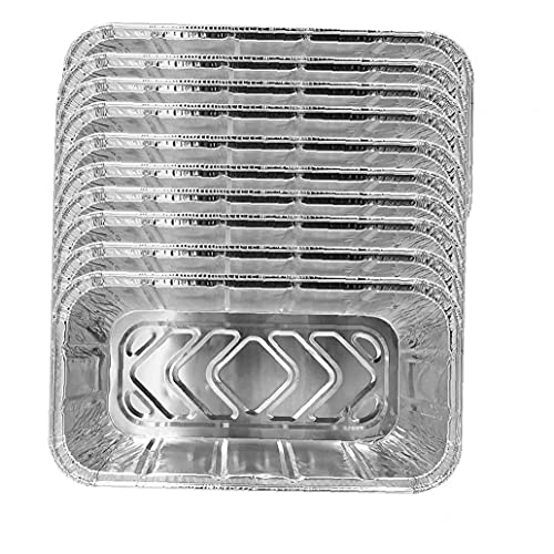lujiaoshout Aluminiumfolie Tropfpfanne, 10 stücke Tragbare Folie Lebensmittelbehälter Tabletts Set BBQ Fettplatte zum Backen