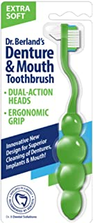 Dr. B Dental Solutions Denture & Mouth Toothbrush, Assorted Colors, Extra Soft, 1pk