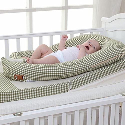 LJHA Oreillers d'alimentation Lit dans Le lit Lit portatif Apaisez Le lit Tapis Anti-étouffement de Lait Anti-étouffement de bébé 2 Couleurs Disponibles Oreillers d'allaitement ( Color : A )