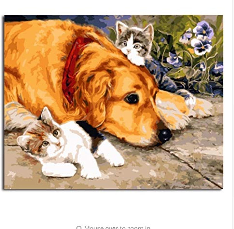 LIWEIXKY Bilder DIY Malerei by Zahlen Von Tierhandarbeit Leinwand Ölgemälde Wohnkultur Für Wohnzimmer - Mit Rahmen - 40x50cm B07PNYJQ1M | Online