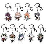 HomMall Anime Characters Figure Pendants Doll Metal Keychain Japanese Anime Cartoon Key Rings(Danganronpa)