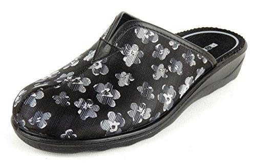 Romika Damen Pantoffel Sommer Textil Weite H grau 67357 Romisana (42, grau)