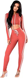 Ausexy Women Ladies Pullover Hoodies Sweatshirt Tops+Pants Sport Wear Fitness Casual SetsYoga Gym Activewear 2 Piece Outfi...