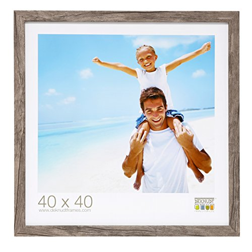 Deknudt Frames S45RH7-40.0X50.0 Bilderrahmen, Holz, Block-Zierleiste, 54,4 x 44,4 x 2,2 cm, Grau/Beige