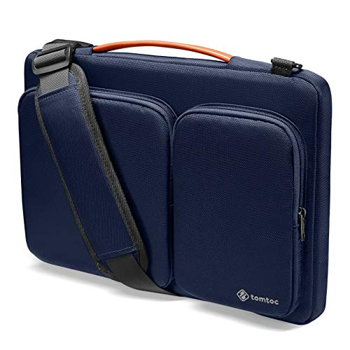 tomtoc 360 Protective Laptop Shoulder Bag for 2020 New Dell XPS 15, 15-inch MacBook Pro A1990 A1707, Surface Laptop 3 15, Waterproof Ultrabook Case for 14 Acer HP Dell Chromebook, ThinkPad X1 Carbon