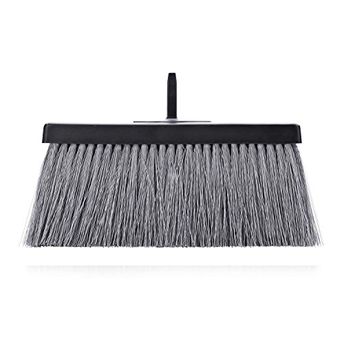 Fuller Brush Black Deep Reach Slender Broom Head - Commercial Wet & Dry Floor Sweeper for Sweeping Dust & Cleaning Ceramic Tile, Linoleum, Vinyl, Wood Laminate & Hardwood Floors