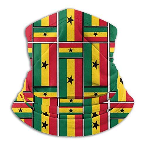 Ghana Vlag Puzzel Fleece Nek Warmer - Omkeerbare Nek Gaiter Tube, Veelzijdigheid Oorwarmer Hoofdband