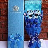 KAMRL Boîte De Cadeau Bouquet Mignon Point Peluche Catoon Jouet en Peluche Belle Poupée en Peluche Cadeau pour Enfants Jouet Cadeaux De Saint Valentin 48 * 15 * 7.5 Cm