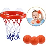BUYGOO Jouet de Bain bébé Rigolo Filles 1 à 6 Ans, Jouet de Bain Basket et Cerceau...
