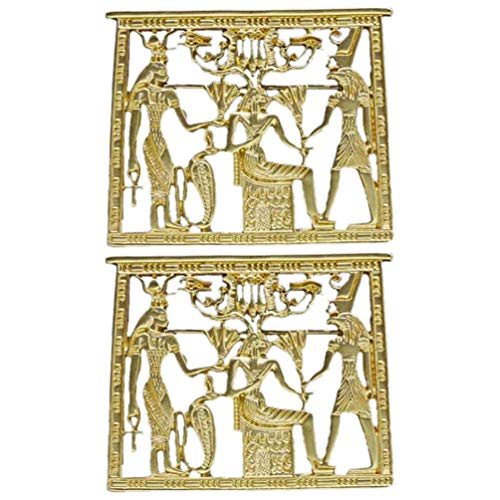ifundom 2 Piezas de Oro Templo Egipcio Horus Anubi ISIS ANJ Cruz Faraón Sombrero Solapa Bufanda Pin Broche Rey Tutankamón Faraón Egipcio Pin de Solapa