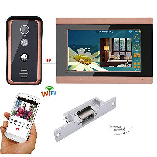HL 7-Inch WiFi Video intercom Timbre, 2.4 g Sistema de Seguridad inalámbrico...