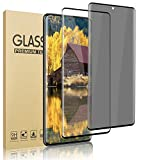 [2 Pack] Galaxy S20 Screen Protector [HD + Privacy Tempered Glass Film][ UltraSonic Fingerprint] [9H Hardness] [No-Bubble][Full Coverage] for Samsung Galaxy S20 5G