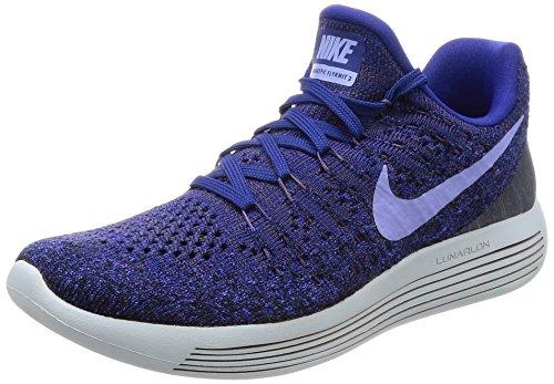 Nike Women's Lunarepic Low Flyknit 2 Running Shoe (6, Dark Raisin/Deep Royal Blue/Black/Light Thistle)