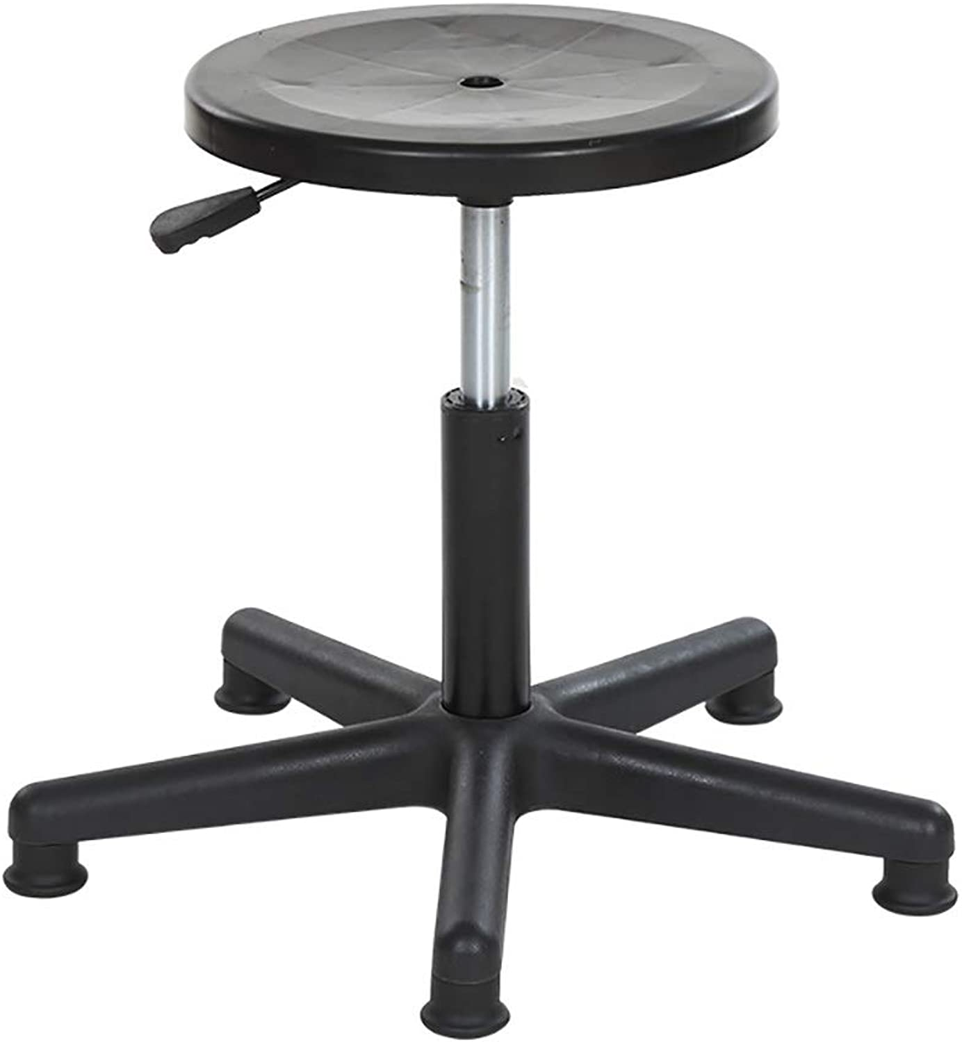 Spa Stool, Small Work Stool, Task Chair, PP Chair Surface Nielen 5 Claws Massage Laboratory Clinic Swivel Stool Lifting 46-56cm (color   Black)