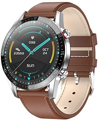 XWZ Smart Watch Fitness Tracker SmartWatch Pulsera Actividad Fitness Tracker SmartWatch Bandas Monitor de Ritmo cardíaco Bluetooth Call Sports SmartWatch,A