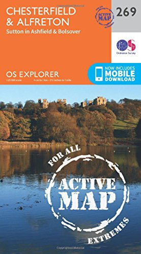 Chesterfield and Alfreton (OS Explorer Active Map)