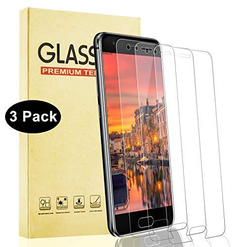 Lixuve Protector de Pantalla para Huawei Honor 9 [3 Piezas], Dureza 9H Vidrio Cristal Templado 3D Touch Película Protectora, Resistente A Arañazos, Sin Burbujas, Fácil Instalación
