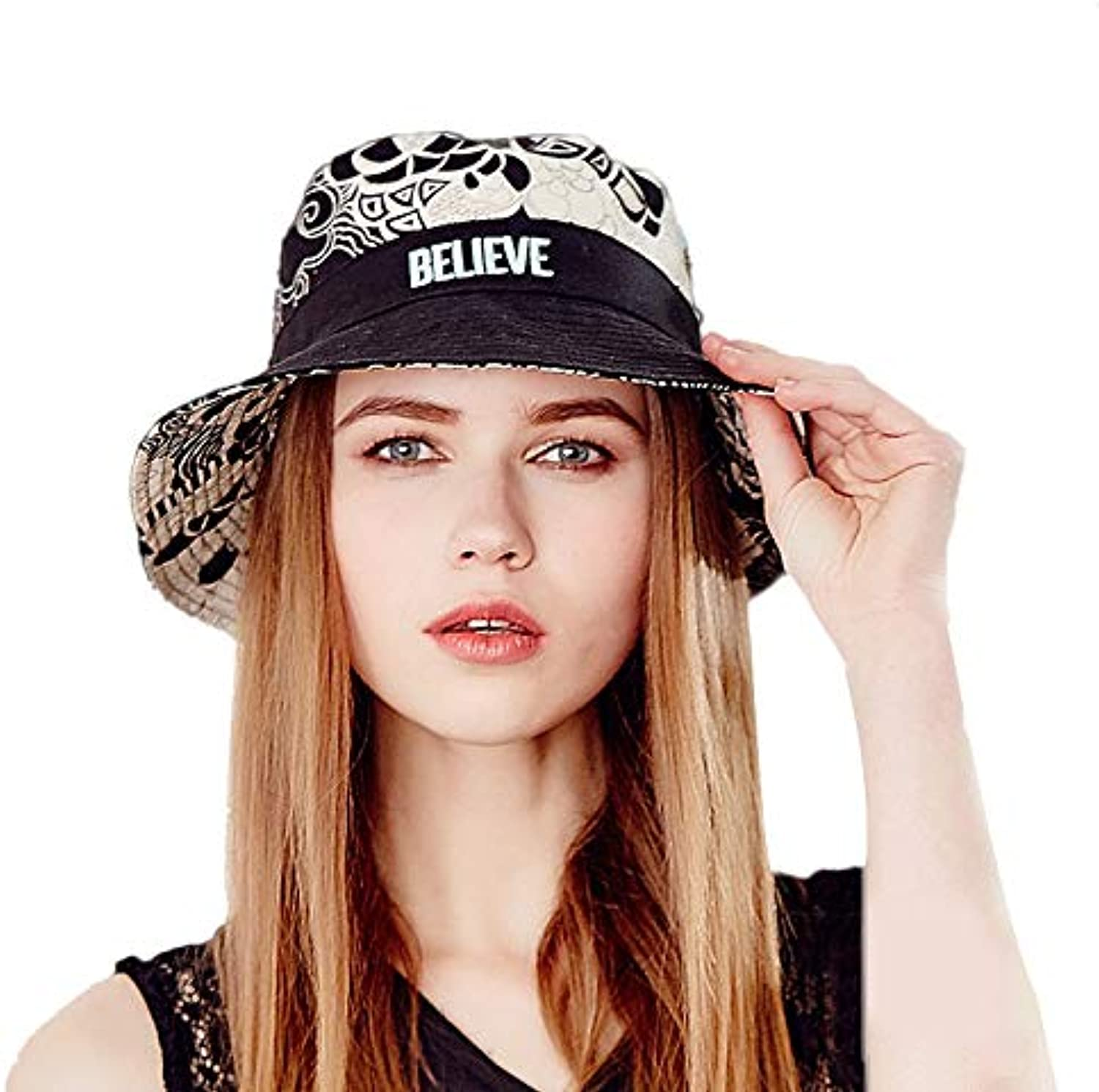 Summer Hat Outdoor Travel Folding Visor Cotton Linen Thin Basin Cap Female Fashion Small Fresh Fisherman Hat Positive and Negative Can Wear (color   Black, Size   57.5cm)