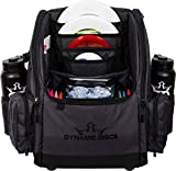 Dynamic Discs Commander Backpack Disc Golf Bag | 20 Disc Capacity | Two Deep Storage Pockets | Two Water Bottle Holders | Frisbee Disc Golf Backpack Bag (Heather Black Cooler)