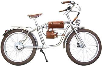 Skyzzie Bicicleta Eléctrica con Pedales 500W Ebike Bici de Ciudad Bicicleta Electrica de Paseo,Batería De Litio 48V,Aspecto Retro,Neumático Marrón de 24