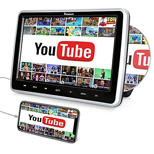 """10,1"""" DVD para Reposacabezas de Coche con Entrada HDMI, Reproductor de DVD con HD Pantalla soporta USB/SD/AV-IN/AV-out, Región Libre - NAVISKAUTO"""