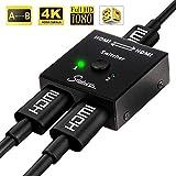 Snxiwth Séparateur 4K HDMI, prise en charge 1080p / 2160p 4k, Commutateur HDMI 2...