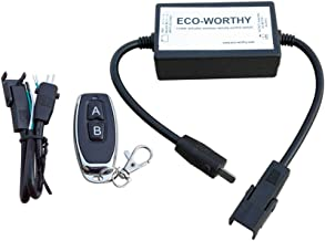 ECO-WORTHY Wireless Remote Controller for Linear Actuators Wiring&Switch Kit 12V DC Motors