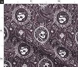 Spoonflower Stoff – Gothic Halloween Pflaume Hexen