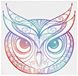 Magnet Divine Designs Beautiful Rainbow Ombre Henna Pattern Owl Drawing Magnetic Vinyl Magnet Bumper Sticker (4' Wide)