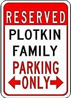 金属サインプランキン家族駐車場ノベルティスズストリートサイン