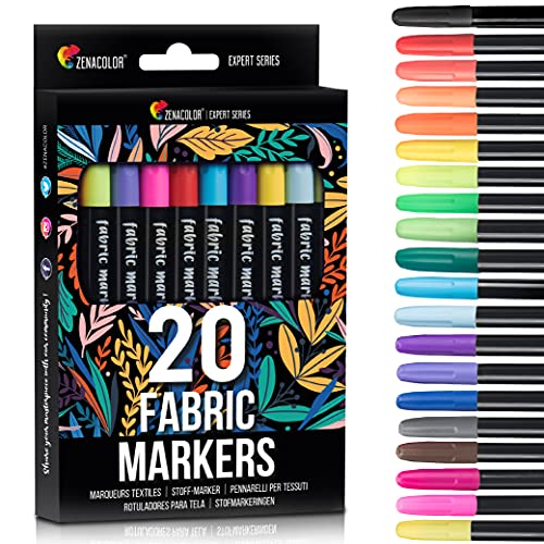 20 Fabric Markers Pens Set  - Non Toxic