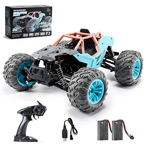 SainSmart Jr. 1:14 Auto Telecomandata, 36+ km/h RC Auto di Tutto Terreno, 4WD Crawler con 2 Batterie Caricabile,Truck Regalo di Natale per Adulti e Bambini