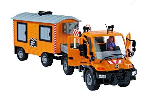 DICKIE-Spielzeug 203828001 - Unimog City Trailer Set