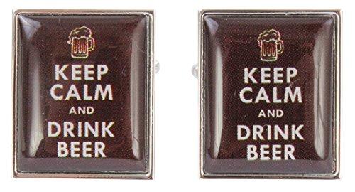 Zennor Karamell behalten Ruhe und trinken Bier Manschettenknöpfe