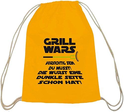 Grill natuur gymtas van Shirtstreet24 met donkere zijde grill wars opdruk