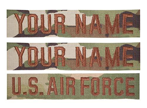 Custom U.S. Air Force USAF Spice Brown OCP Name Tape Bundle (SEW ON)